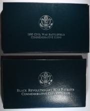 1998 BLACK PATRIOTS UNC SILVER DOLLAR &