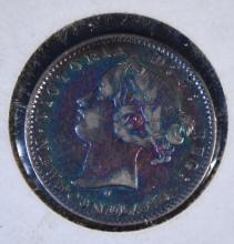 1872-H NEW FOUNDLAND TEN CENT, VF LOW MINTAGE