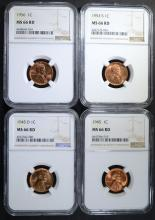1945, 1945-D, 1953 S, 1956 LINCOLN CENTS