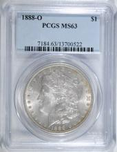 1888-O MORGAN SILVER DOLLAR, PCGS MS-63