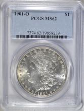 1901-O MORGAN SILVER DOLLAR, PCGS MS-62