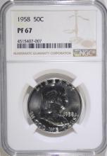 1958 FRANKLIN HALF DOLLAR, NGC PF-67