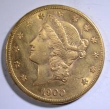 1900-S $20 GOLD LIBERTY CLEANED