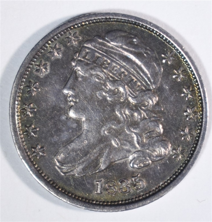 1835 CAPPED BUST DIME CH.XF/AU