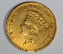1886 $3.00 GOLD INDIAN PRINCESS  AU