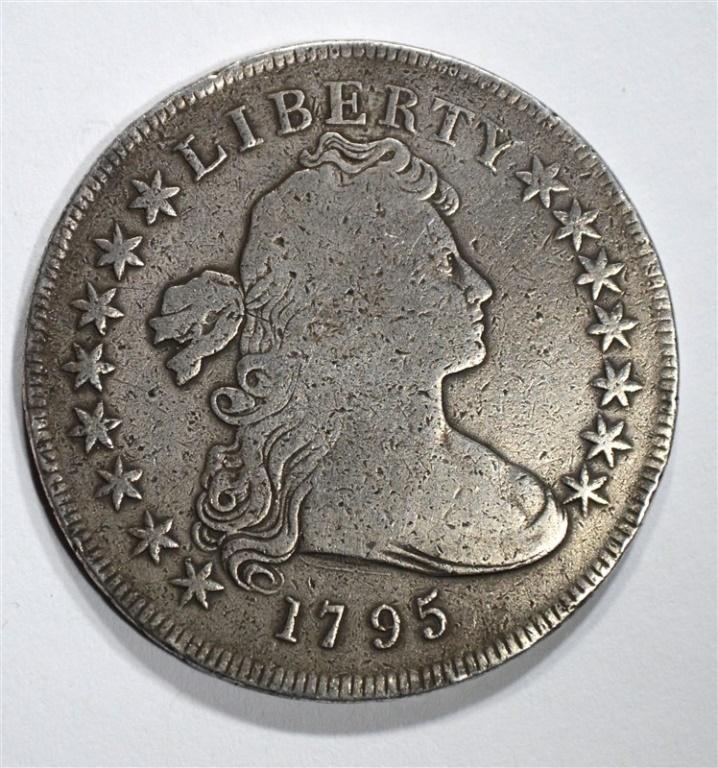 1795 DRAPED BUST DOLLAR VG/FINE
