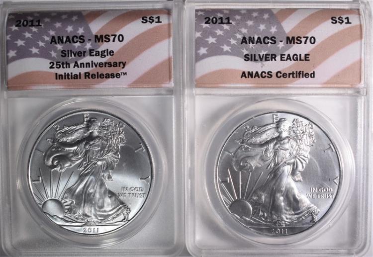 2 - 2011 AMERICAN SILVER EAGLES