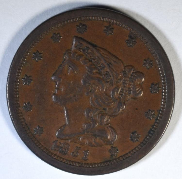 1851 HALF CENT AU