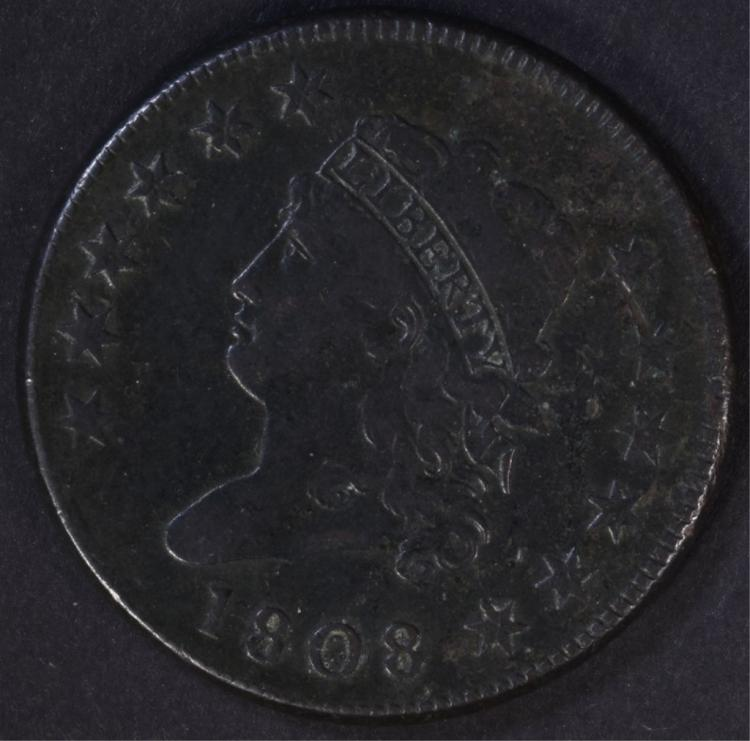 1808 CLASSIC HEAD LARGE CENT VF+