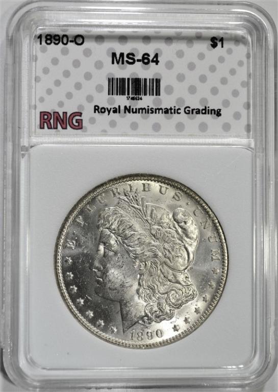 1890-O MORGAN DOLLAR RNG CH BU