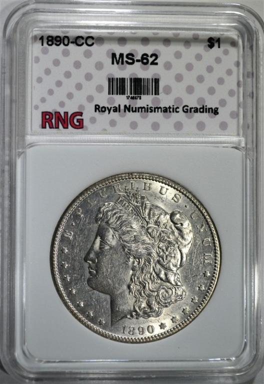 1890-CC MORGAN DOLLAR RNG CH BU