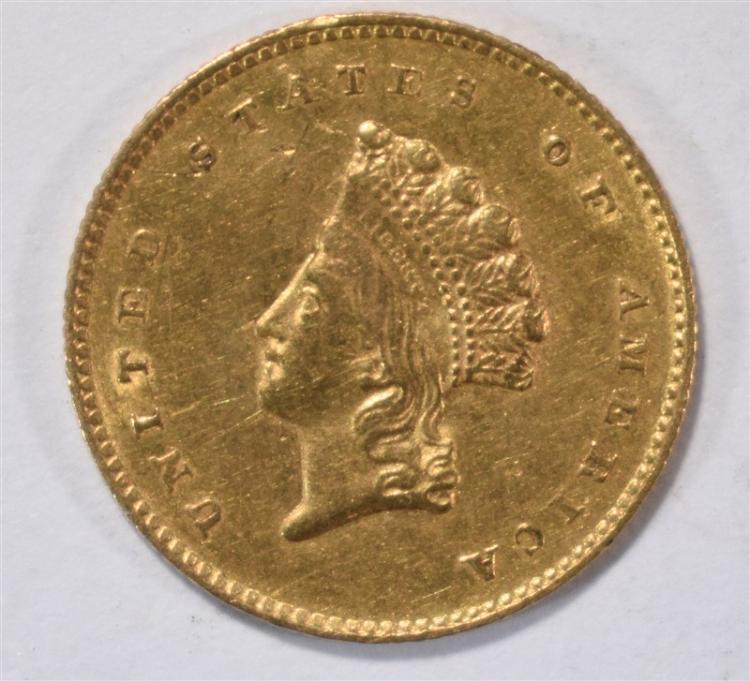 1855-O $1.00 GOLD CH AU