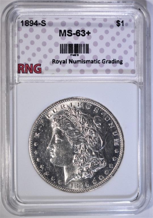 1894-S MORGAN DOLLAR RNG CH BU+