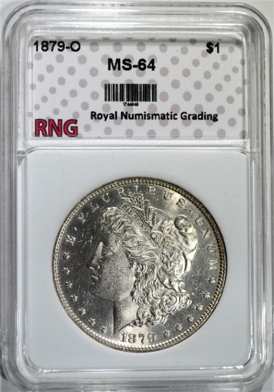1879-O MORGAN DOLLAR RNG CH BU
