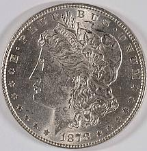 1878 7-TF MORGAN SILVER DOLLAR, MS-62 WHITE!