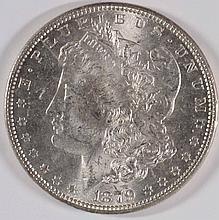 1879 MORGAN SILVER DOLLAR, MS-64 BLAST WHITE,