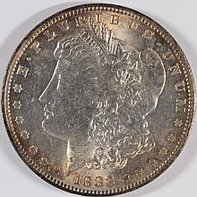 1883-O MORGAN SILVER DOLLAR, MS-63  SPECTACULAR COLOR!