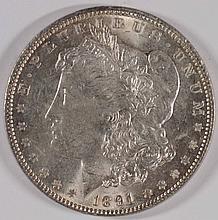 1891 MORGAN SILVER DOLLAR, MS-63++ BLAST WHITE!