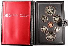 1983 CANADIAN PROOF SET, DOUBLE DOLLARS,  WITH BOX/COA, ONE DOLLAR IS SILVER