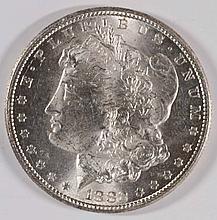 1882-CC MORGAN SILVER DOLLAR, MS-63+  BLAST WHITE!