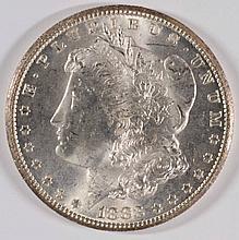 1883-CC MORGAN SILVER DOLLAR, MS-63+  WHITE