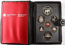 1985 CANADIAN PROOF SET, DOUBLE DOLLARS,  WITH BOX/COA, ONE DOLLAR IS SILVER