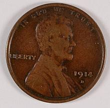 1914-D LINCOLN CENT F/VF