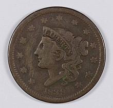 1838 LARGE CENT FINE+