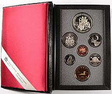 1990 CANADIAN PROOF SET, DOUBLE DOLLARS,  WITH BOX/COA, ONE DOLLAR IS SILVER