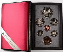 1991 CANADIAN PROOF SET, DOUBLE DOLLARS,  WITH BOX/COA, ONE DOLLAR IS SILVER