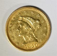 1850 $2.5 LIBERTY GOLD - UNC