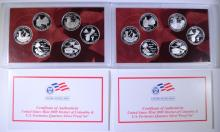 ( 2 ) 2009 U.S. SILVER QUARTER PROOF SETS IN ORIGINAL PACKAGING