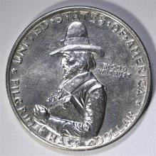 1920 PILGRIM COMMEMORATIVE HALF DOLLAR, CHOICE BU