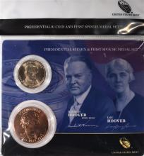 2014 Herbert and Lou Hoover  First Spouse Presidential Coin & Medal Set