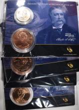 4 - 2012 Presidential $1 Coin and Frist Spouse Medal Set; ARTHUR, HARRISON,