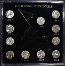 U.S. BU War Time WWII Silver Jefferson Nickel Set Uncirculated