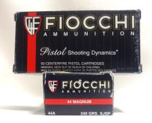 2 Boxes of Fiocchi 44 magnum Ammunition