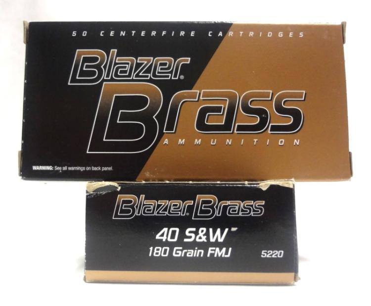 2 Boxes of Federal Blazer Brass .40 S&W