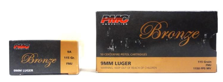 2 Boxes of PMC Bronze 9mm Luger.