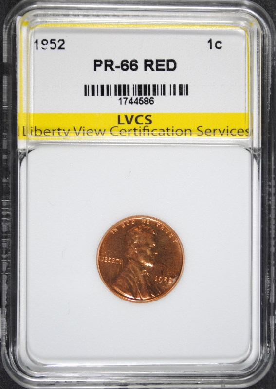 1952 LINCOLN CENT SUPERB GEM PROOF RED