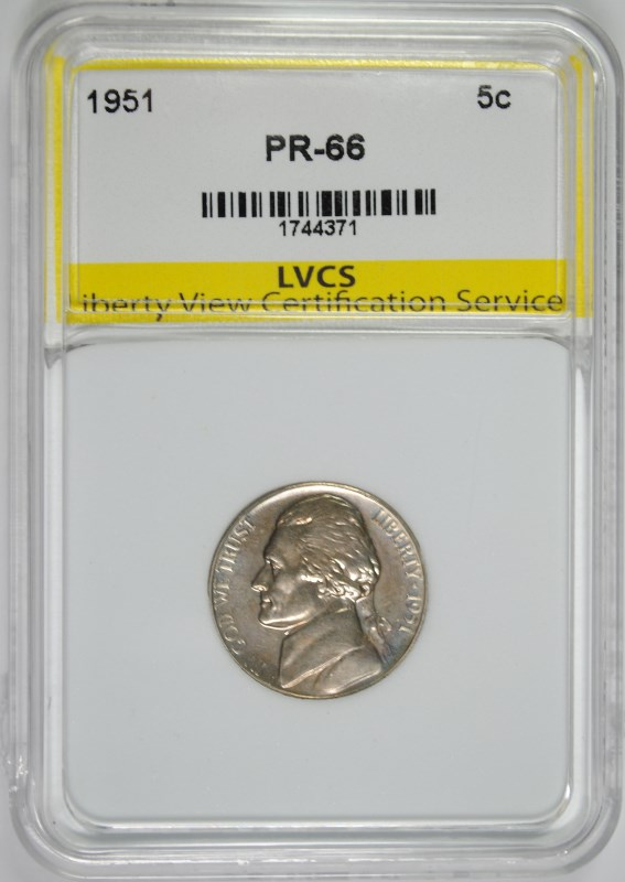 1951 JEFFERSON NICKEL SUPERB GEM PROOF