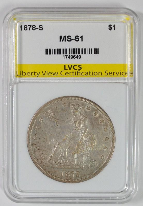 1878-S SILVER TRADE DOLLAR LVCS CH BU