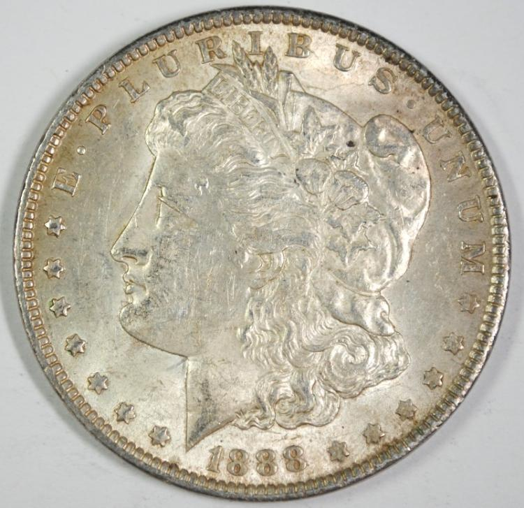 1888 MORGAN SILVER DOLLAR, BU