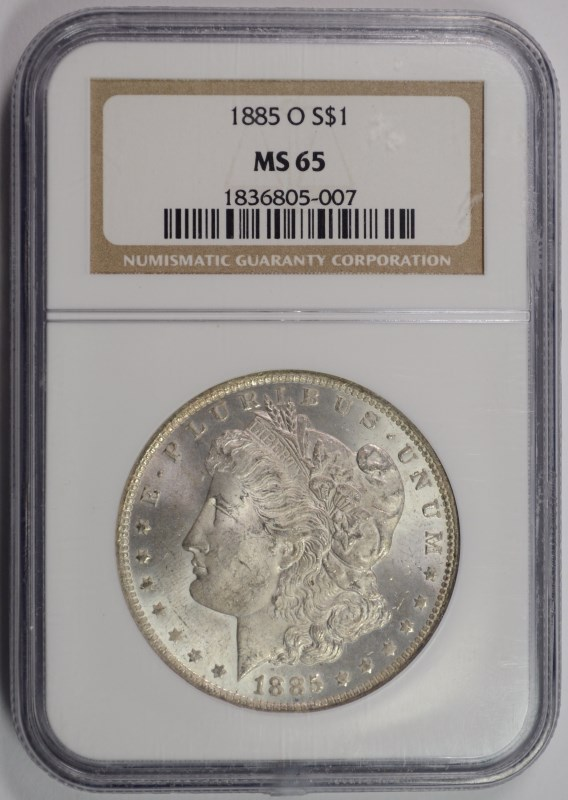 1885-O MORGAN DOLLAR NGC MS-65