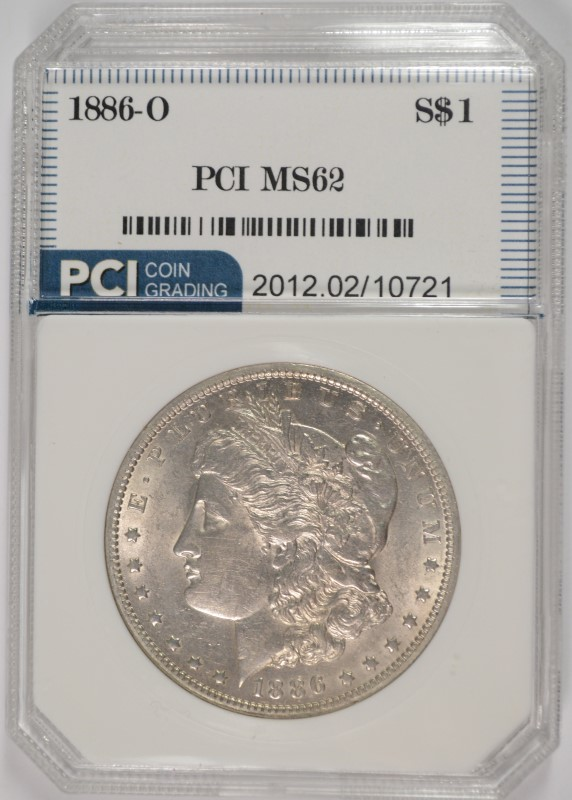 1886-O MORGAN SILVER DOLLAR PCI CH BU KEY DATE