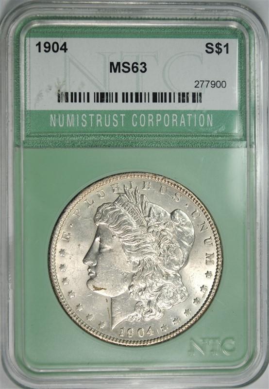 1904 MORGAN DOLLAR NTC CH BU