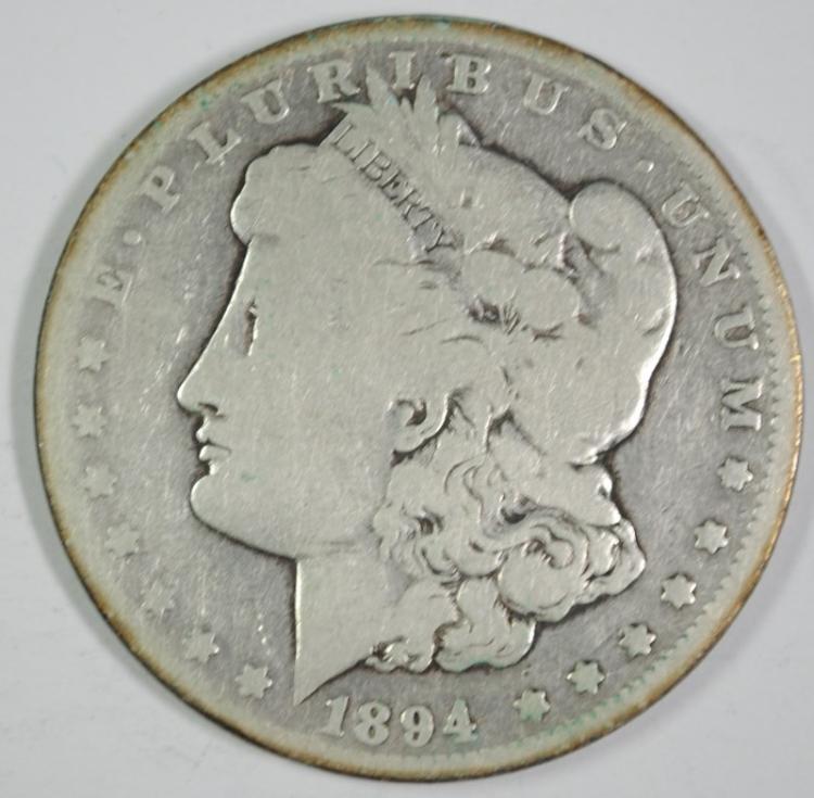 1894-O MORGAN SILVER DOLLAR - VG - SEMI KEY DATE