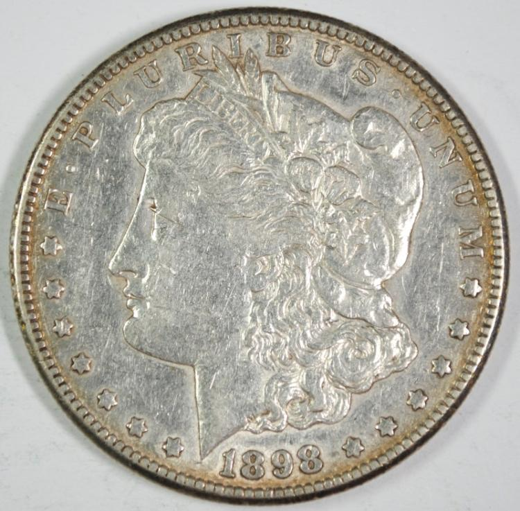 1898-S MORGAN SILVER DOLLAR - XF/AU - SEMI KEY DATE