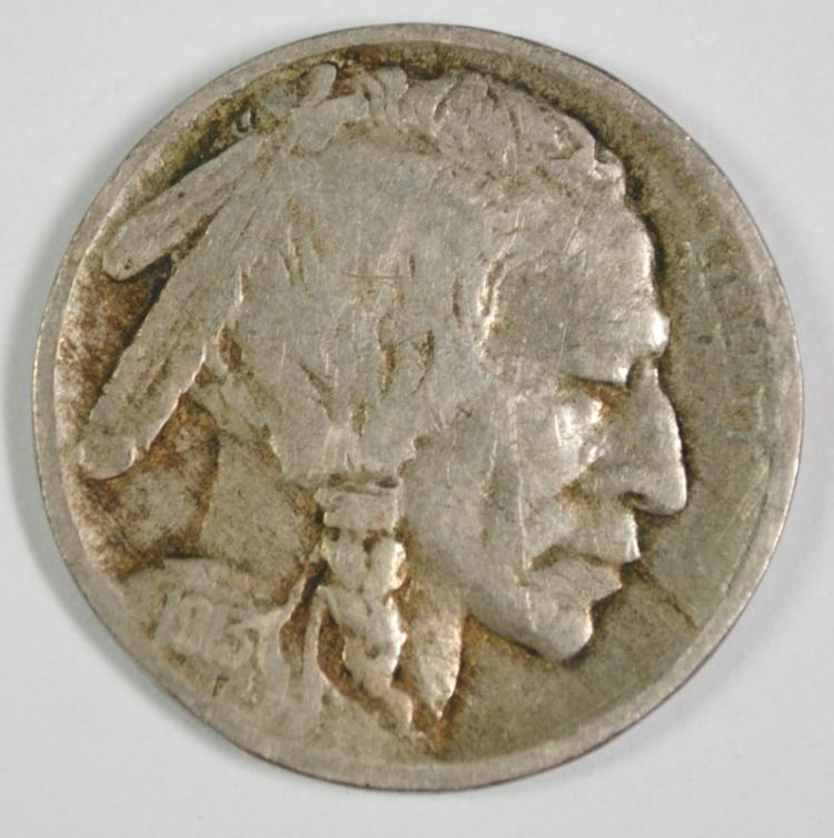 1913-D BUFFALO NICKEL TYPE 2 - FINE, KEY COIN