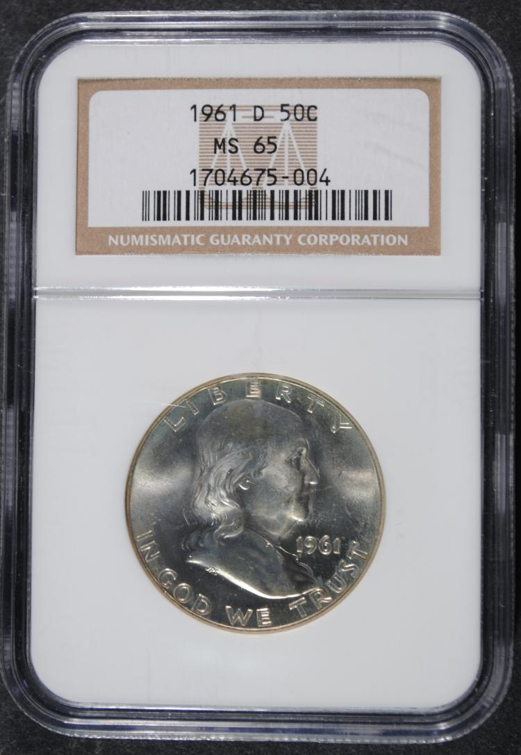1961-D FRANKLIN HALF NGC MS-65